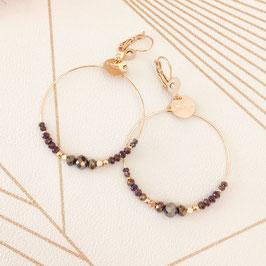 Boucles d'oreilles CHLOE / Coloris Metallic purple