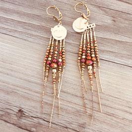 Boucles d'oreille DIVA / Coloris Rose Gold Doré