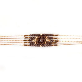 Bracelet DIVA / Moka Doré