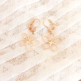 Boucles d'oreilles FLEUR Petit modèle Dorée