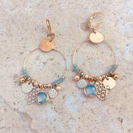 Boucles d'oreille SASHA / Coloris Caraïbe