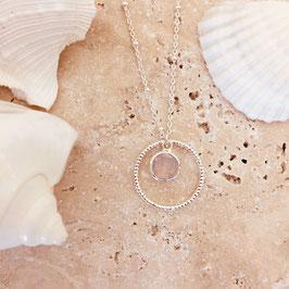 Collier LOLA / Rose opal Plaqué Argent