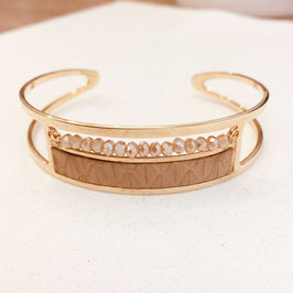 Bracelet Manchette OLGA / Noisette