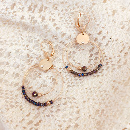 Boucles d'oreilles MINI OLIVIA / Metalic