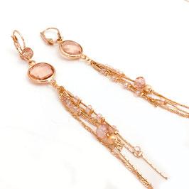 Boucles d'oreilles GLORIA / Rose poudré