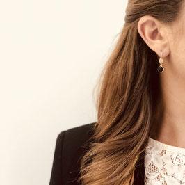 Boucles d'oreille PALOMA / Coloris Rose poudré Doré