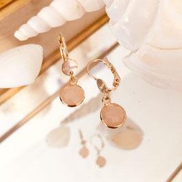 Boucles d'oreille PALOMA / Coloris NudeDoré