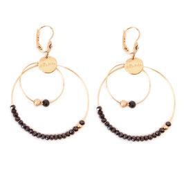 Boucles d'oreille OLIVIA / Coloris Montana / Doré