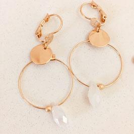 Boucles d'oreilles NELLY / Blanc opal