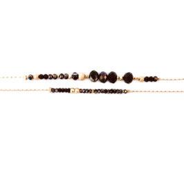 Bracelet MARIUS / New Noir Doré