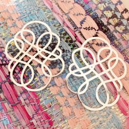 Boucles d'oreilles INFINITY MAXI / plaqué argent