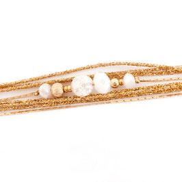 Bracelet ALEX / Blanc Doré