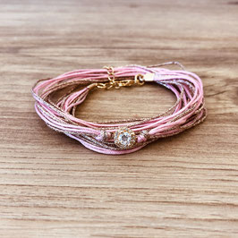 Bracelet ADÈLE / Rose et Doré