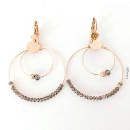 Boucles d'oreilles OLIVIA Coloris Kaki / Doré