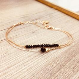 Bracelet ANAIS / Noir Doré