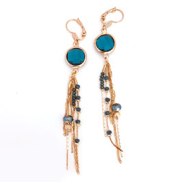 Boucles d'oreilles GLORIA / Bleu Océan