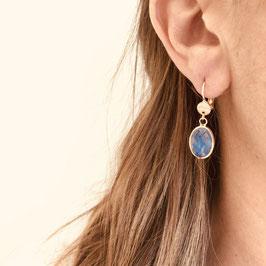 Boucles d'oreilles GIORGIA / Blanc Opal Doré