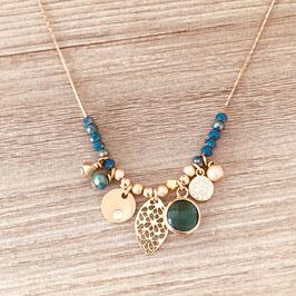 Collier ANNA / Vert tropique doré