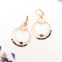 Boucles d'oreilles MINI OLIVIA / New Noir