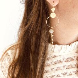 Boucles d'oreilles CLYDE / Beige doré