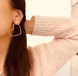 Boucles d'oreilles COEUR / Grand Modèle Doré