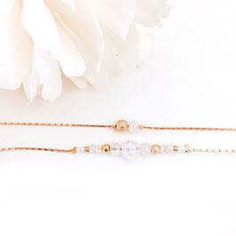 Bracelet MILA / blanc opal