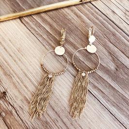 Boucles d'oreilles NOÉLIE / Pyrite Doré