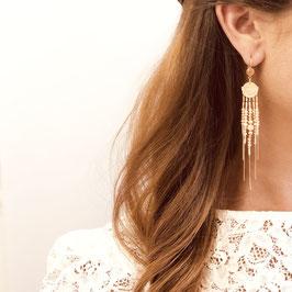 Boucles d'oreille DIVA / Coloris Rouge doré
