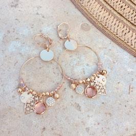 Boucles d'oreille SASHA / Coloris Rose Poudré