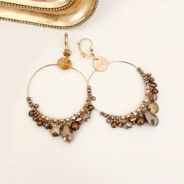 Boucles d'oreilles FROUS FROUS / Pyrite
