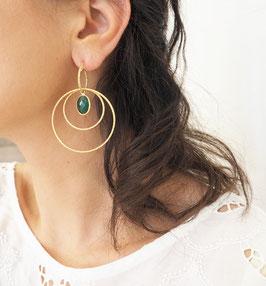Boucles d'oreilles LÉONIE / Vert Tropique