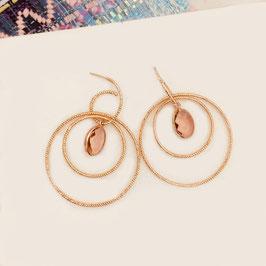 Boucles d'oreilles LÉONIE / Rose Poudré