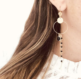 Boucles d'oreilles CLYDE / Vert doré