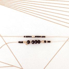 Bracelet MARIUS / Noir Doré