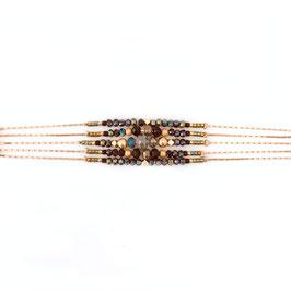 Bracelet DIVA / Scarabée Doré