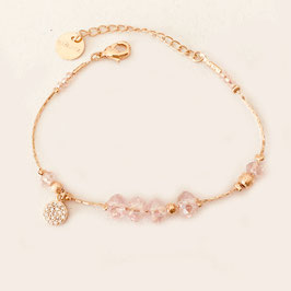 Bracelet PAULA / Rose poudré