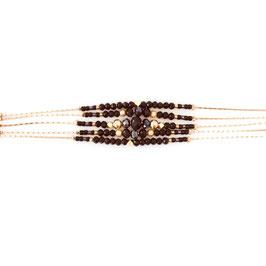 Bracelet DIVA / Noir Doré