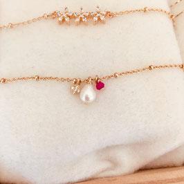 Bracelet OLYMPE / Rose fushia