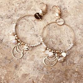 Boucles d'oreilles CALYPSO / Blanc opal