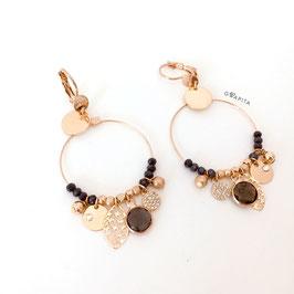 Boucles d'oreille SASHA Coloris Montana / Doré