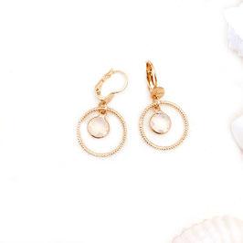 Boucles d'oreilles LOLA / Blanc opal