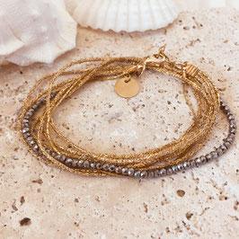 Bracelet LÉO / Gris métallisé