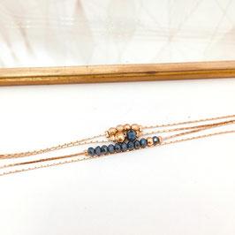 Bracelet THELMA / Bleu d'hiver