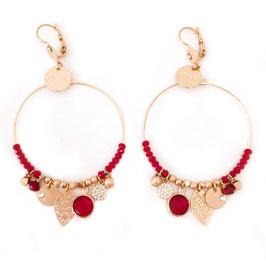 Boucles d'oreilles SASHA GRAND MODELE / Rouge