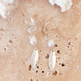 Boucles d'oreilles IRIS / Plaqué argent