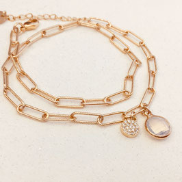 Bracelet BILLY / Blanc opal