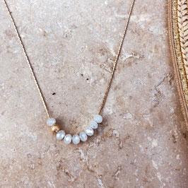 Collier LUCAS / Blanc opal