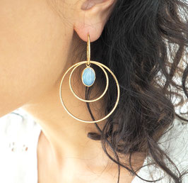 Boucles d'oreilles LÉONIE / Blanc opal