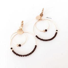 Boucles d'oreilles OLIVIA /  Noir