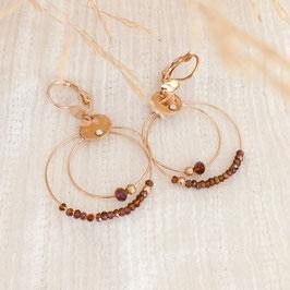 Boucles d'oreilles MINI OLIVIA / Marsala